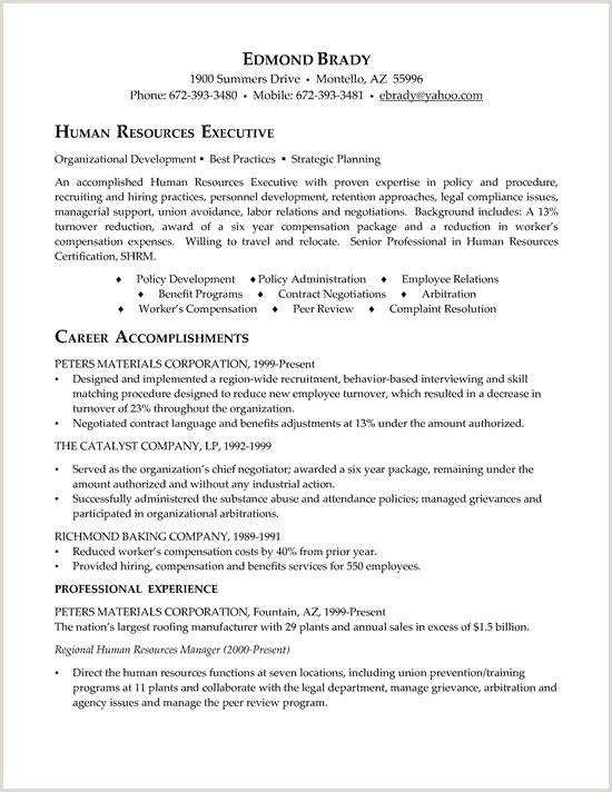 Cv Format For Garments Job Hr Executive Resume Example