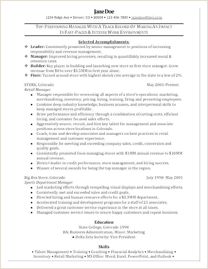Cv Format For Garments Job Store Manager Cv Template – Chanceinc