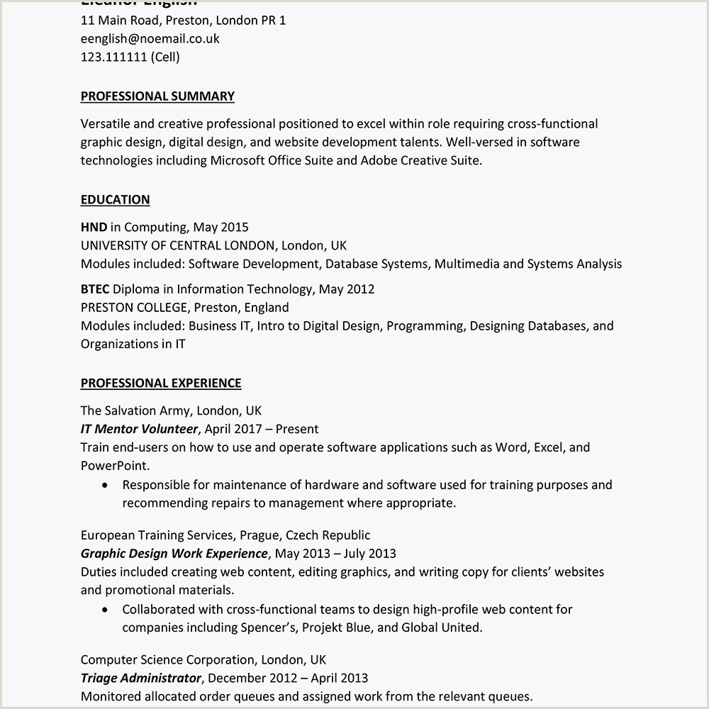 Cv format for Germany Jobs United Kingdom Curriculum Vitae Cv Example