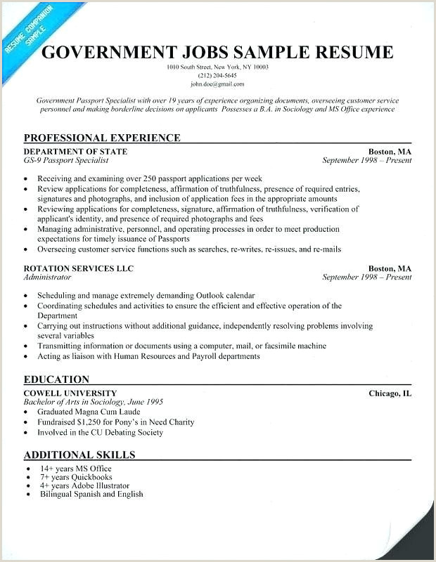 Cv format for Government Job Beautiful How to Write A Government Resume