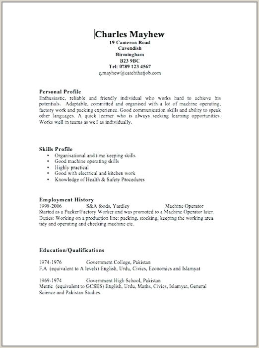 Cv format for Government Job In Pakistan 9 Writing Template Development Professional Modern Cv Free