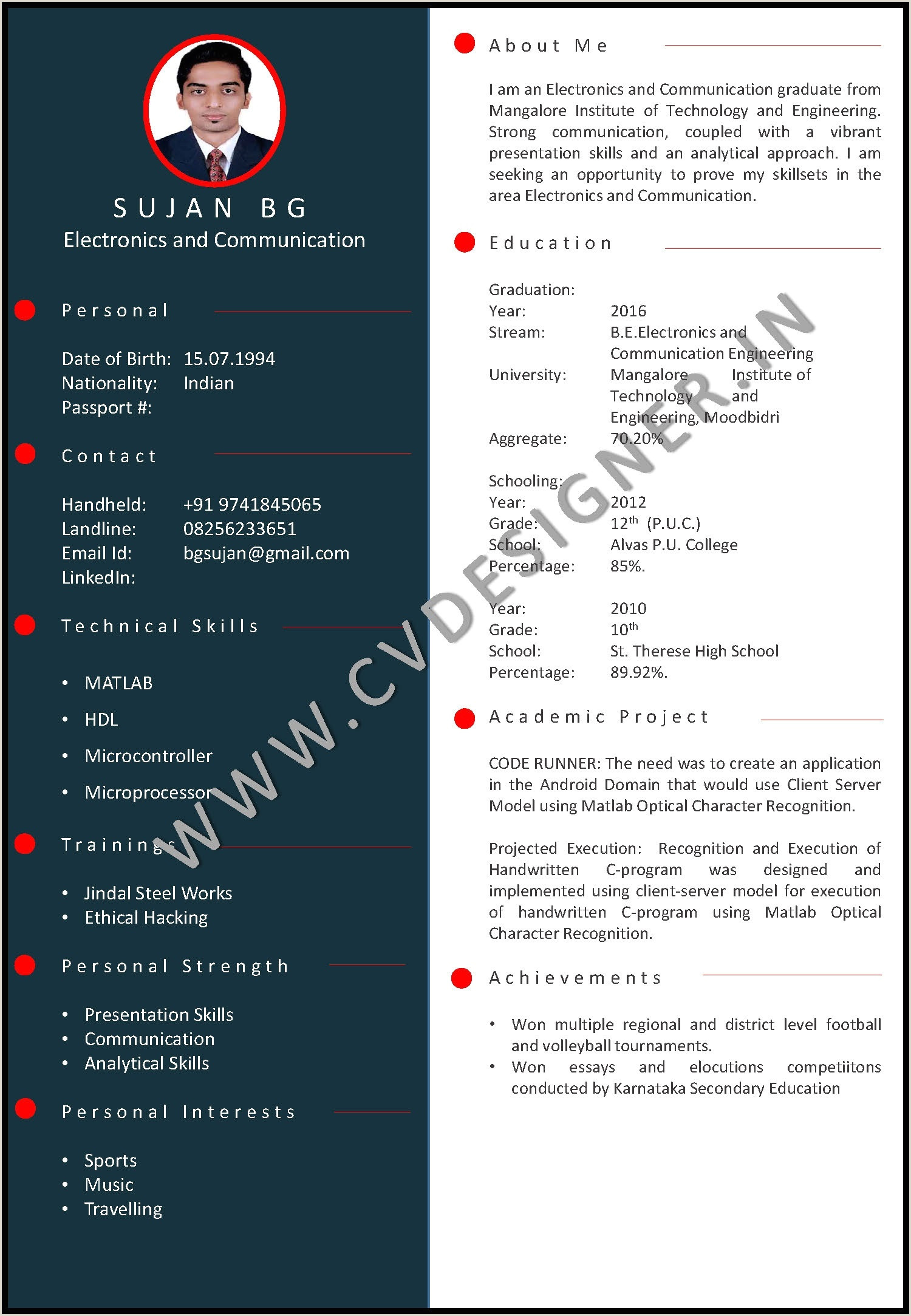 Cv format for Govt. Job In India How to Make A Good Resume as A Fresher Quora