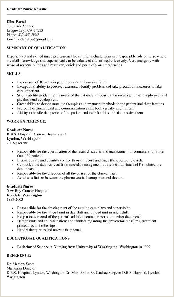 Cv format for Hospital Job Resume for Nursing Job Beautiful Great Skills to Put Resume
