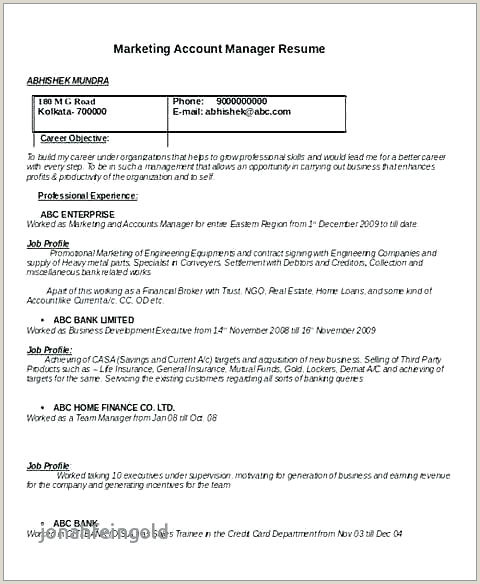 Cv Format For Hotel Job Resume Objectives For Hospitality Jobs And Resume Template