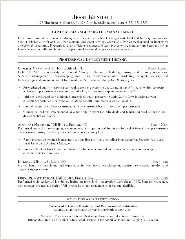 Cv Format For Hotel Job Waiter Hotel Server Sample Resume – Podarki