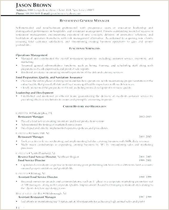 Cv Format For Hotel Job Waiter Resume Template Restaurant – Musacreative
