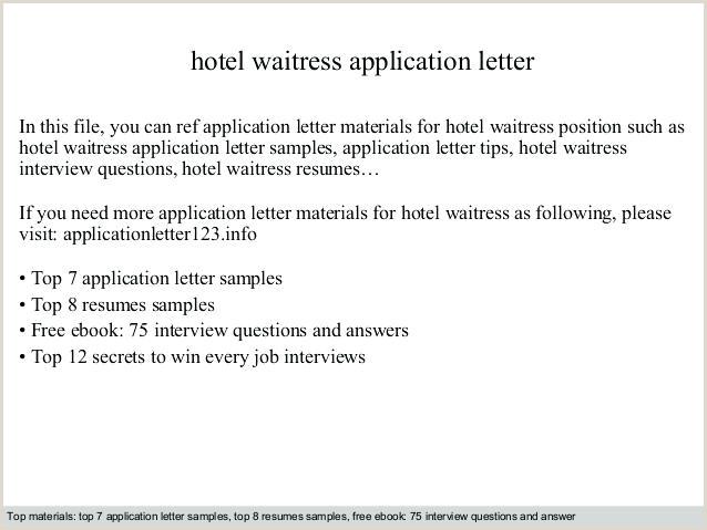 Cv Format For Hotel Job Waiter Waiter Bartender Cover Letter – Coachyax