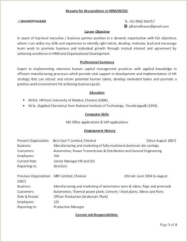 Cv Format For Hr Job Top Human Resources Resume Templates Samples Hr Resume