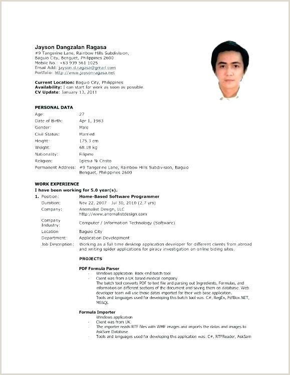 Cv format for Job Abroad International format Resume Job In New formats Professional