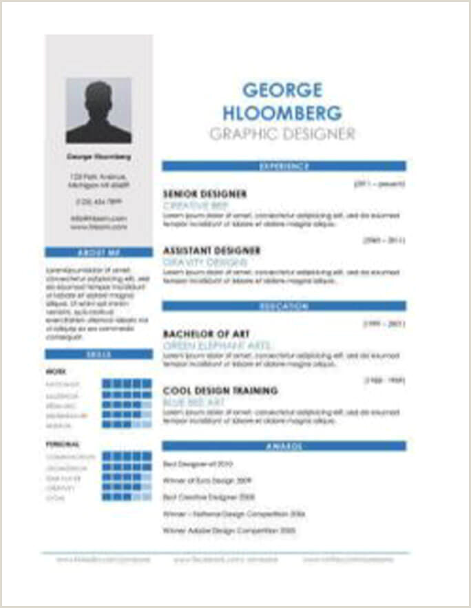 Cv Format For Job Application For Freshers 17 Infographic Resume Templates [free Download]