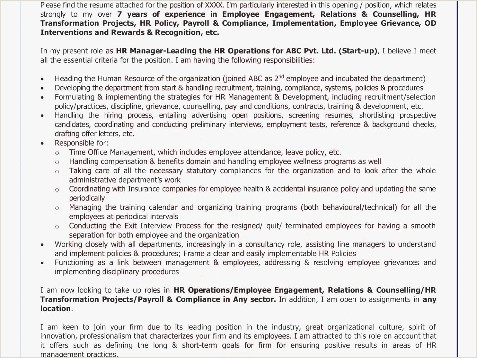 Cv format for Job Application for Freshers Cover Letter Sample for Resume How to Write V1ring