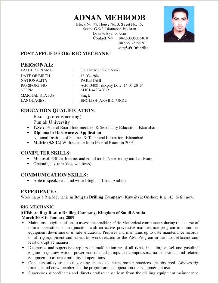 Cv format for Job Application for Freshers Resume format for – Wikirian