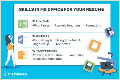 Microsoft fice Skills for Resumes & Cover Letters