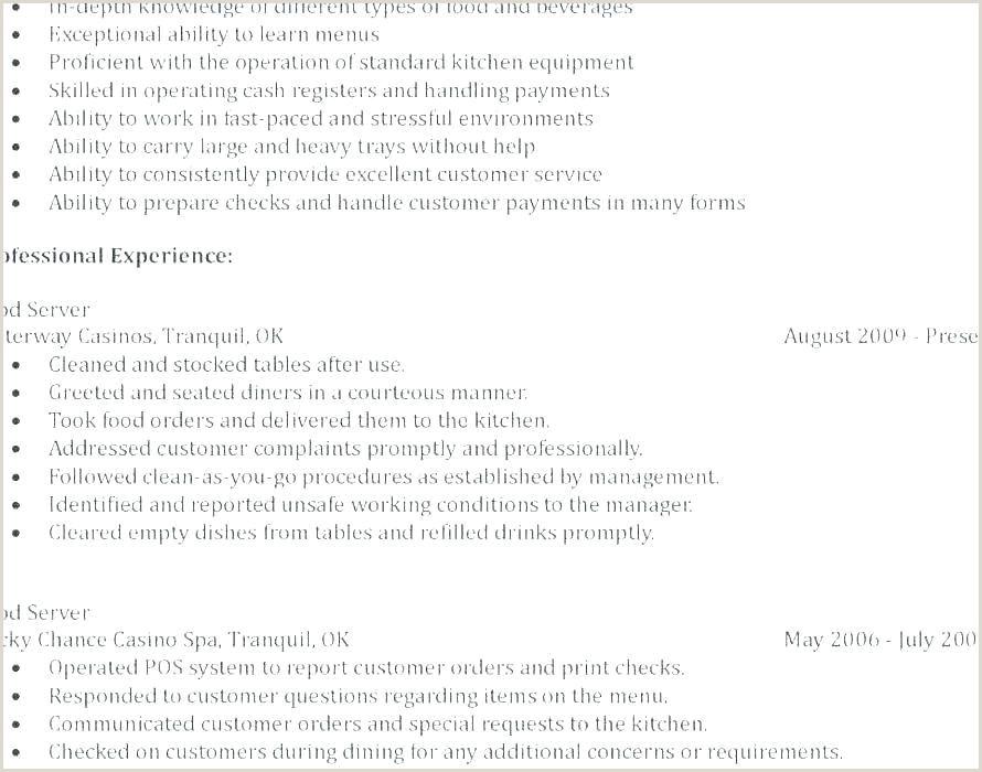 25 Free Server Job Descriptions for Resumes