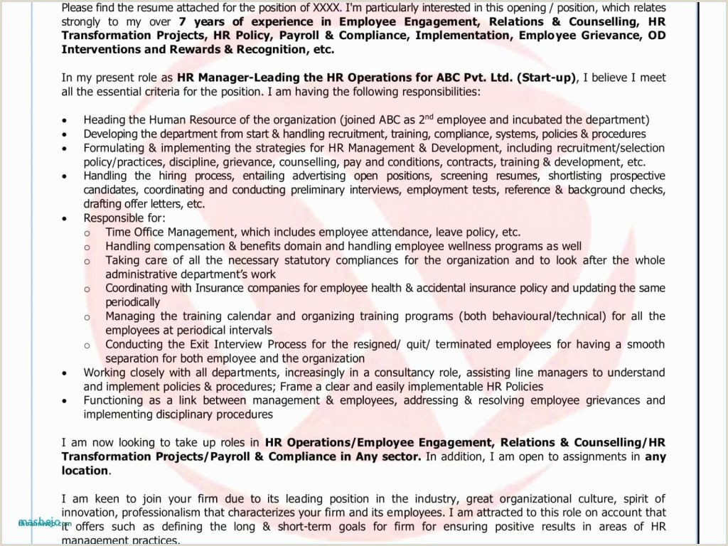 Cv Format For Job Change Sample Cover Letter For Career Change Position Best Cover