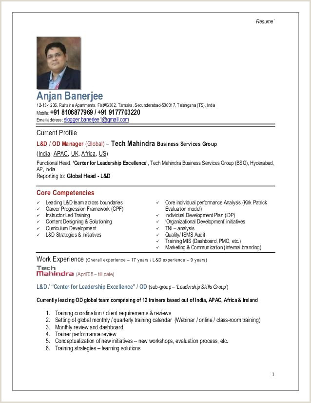 Cv format for Job Description Modele Cv Uk