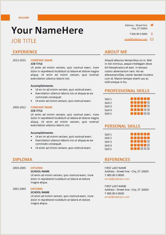 Cv format for Job Download Free Collection 38 Instant Resume Templates Model