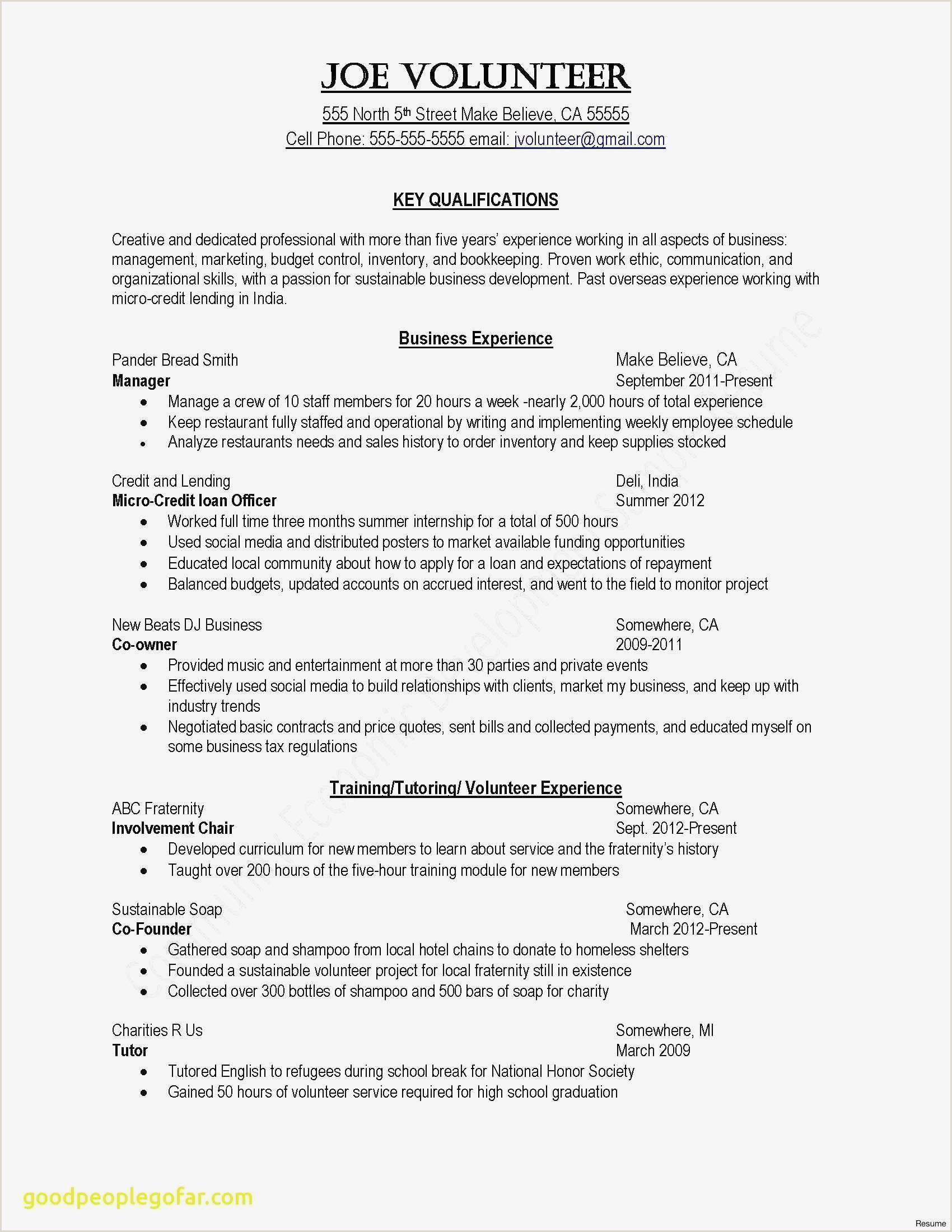 Cv Format For Job Example Cv Outline Examples Resume Key Words New Elegant Resume