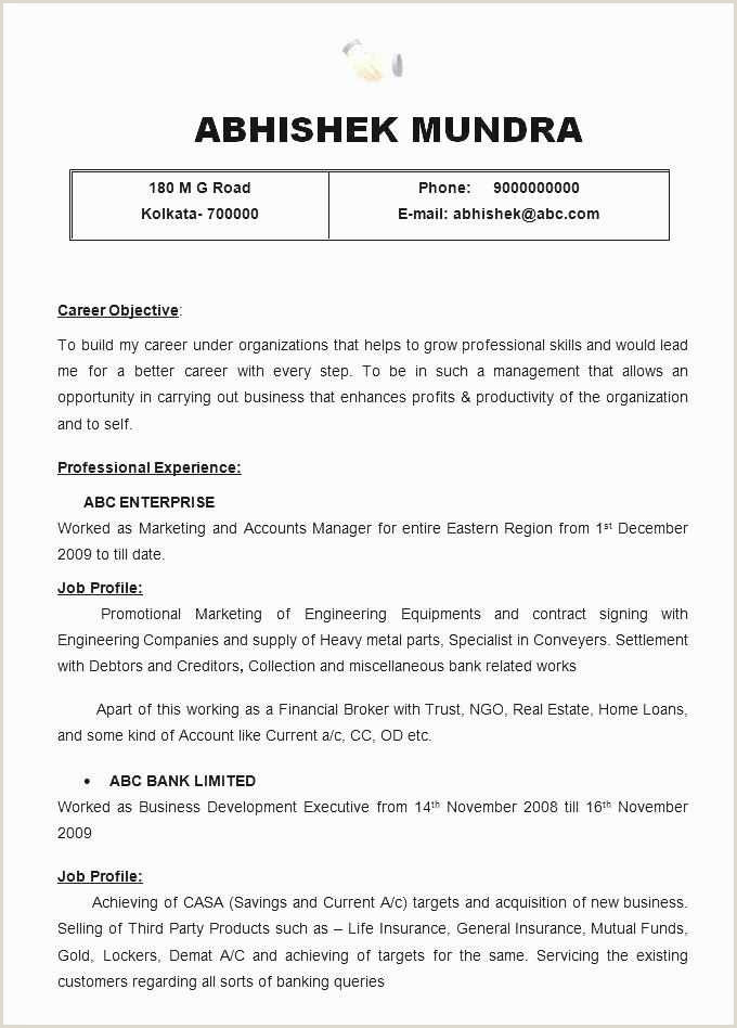 Cv Format For Job Example Free Download 49 Top Resume Templates Free Download Free