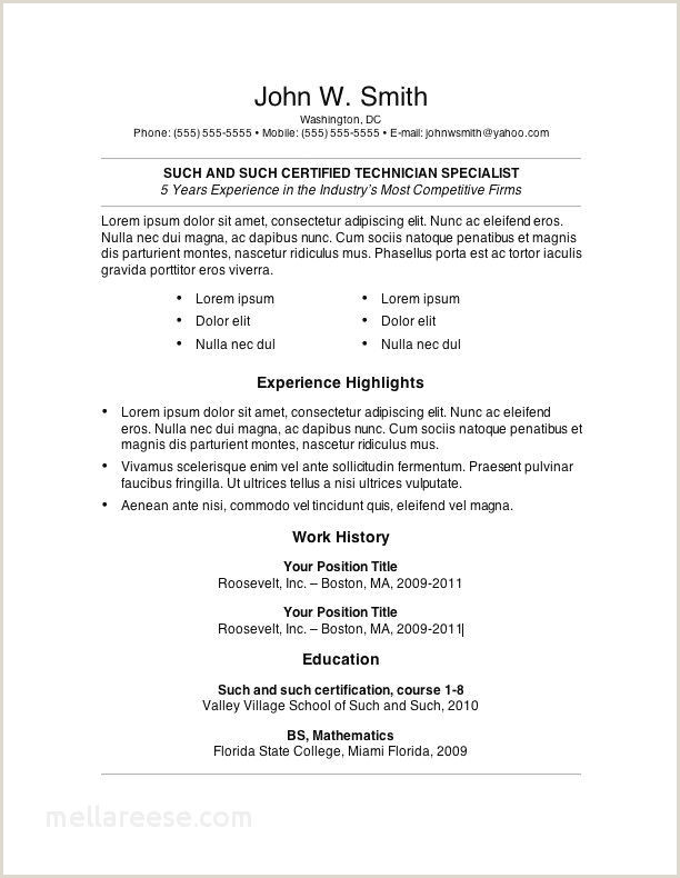 Cv Format For Job Example Resume Word Document Template Best Quote Yahoo Lovely Resume