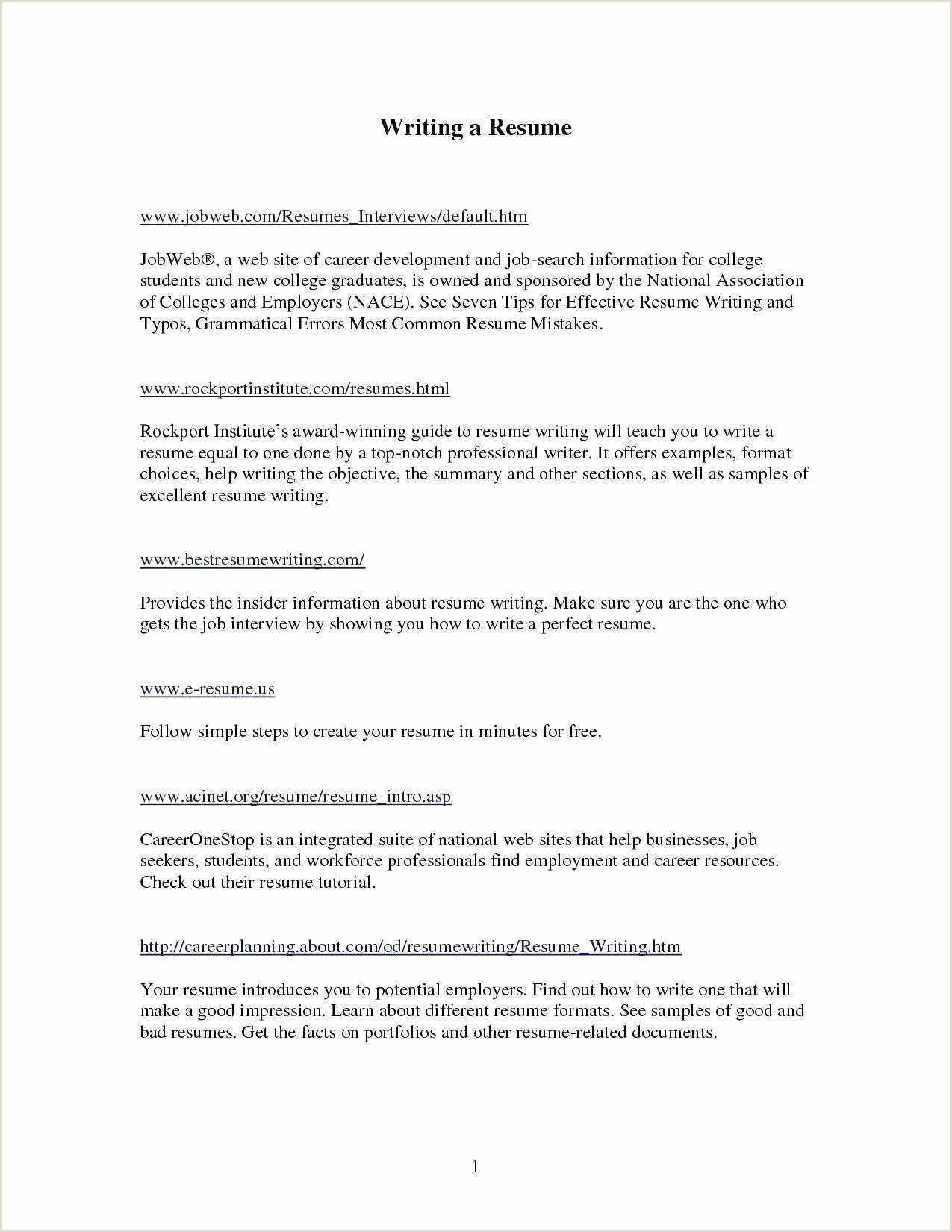 Cv format for Job Experience Sample Resume for Fresh Graduate without Work Experience New