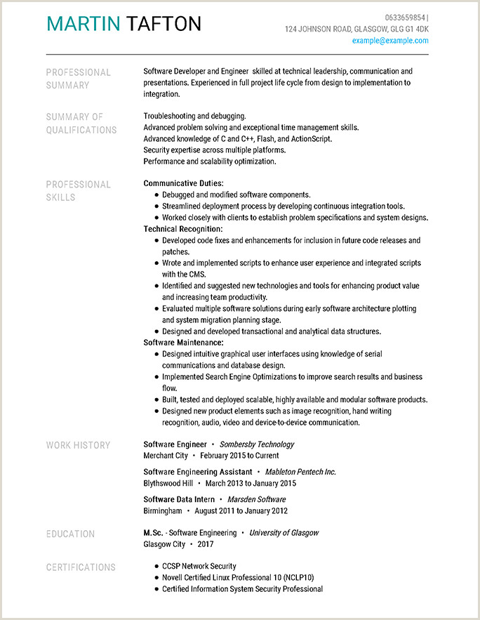 Cv Format For Job For Freshers Resume Format Guide And Examples Choose The Right Layout