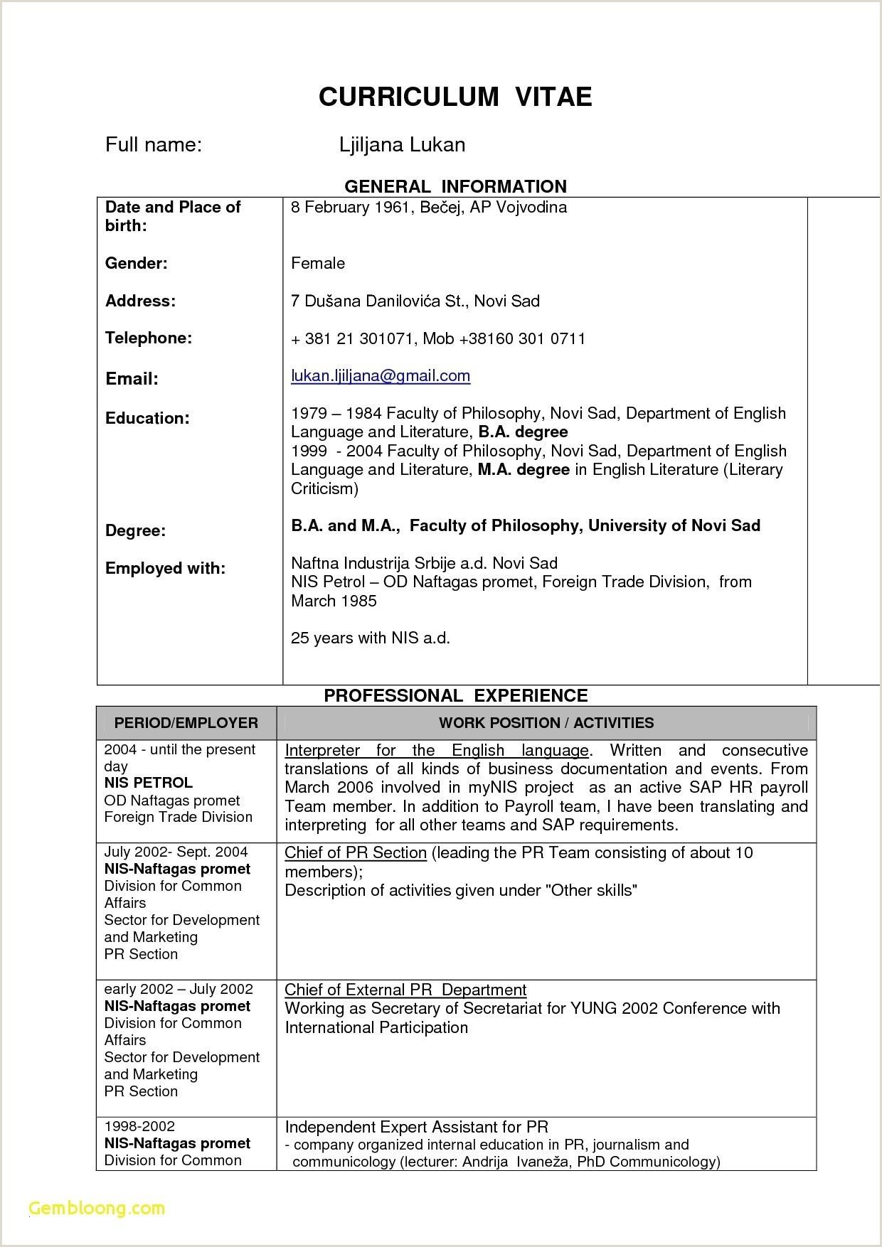 Cv Format For Job For Freshers Sample Resume For Legal Jobs In India New Sample Resume For