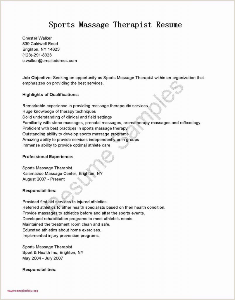 Cv Format For Job In Australia Resume Cover Letter Beauty Industry Valid Ex New Therapist