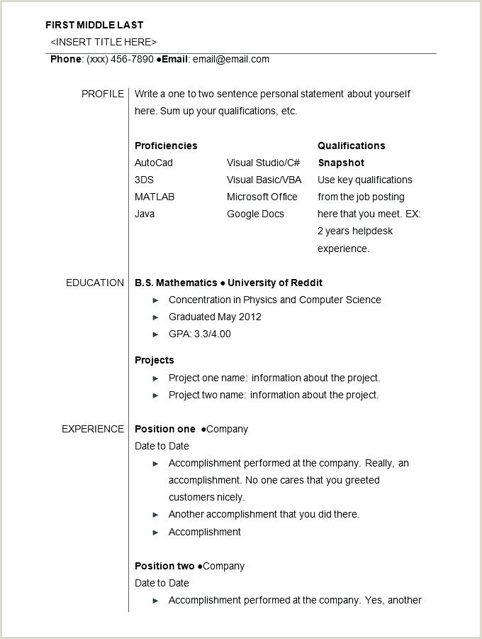 Cv format for Job In Bangladesh Doc Cv format Template