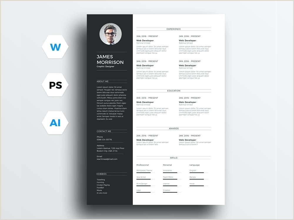 Cv format for Job In Bangladesh Doc Cv Template Doc Free Marketer Resume In Word format Templates