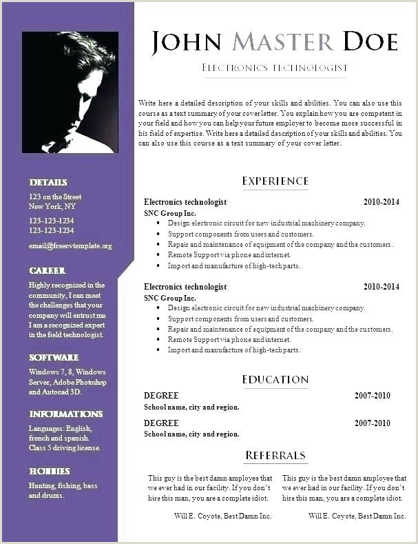 Sample Resume Template Word Templates Free Download Document