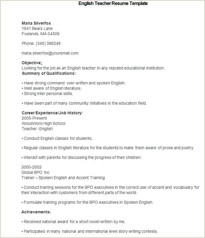 Cv Format For Job In Bangladesh Download Doc Sample Teacher Resume Template Teacher Resume Templates Doc