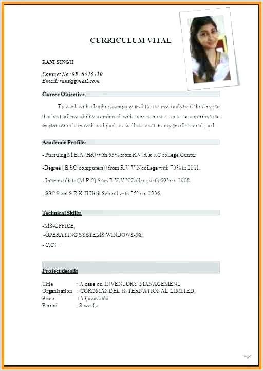 Cv format for Job In Bangladesh Pdf Curriculum Vitae Template Pdf Related for 8 format Sample