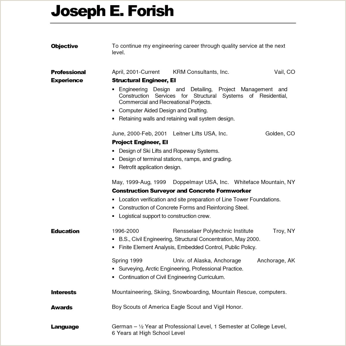 Cv format for Job In Bangladesh Pdf Cv Mercial Exemple Resume Templates Word 2010 Xenakisworld