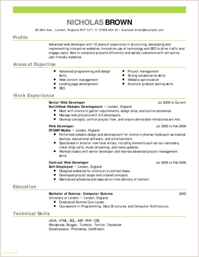 Cv format for Job In Bangladesh Pdf Download Cv In Engleza format Word