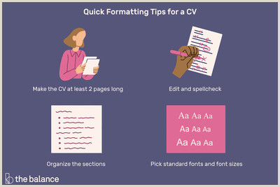 Formatting Tips for Your Curriculum Vitae CV