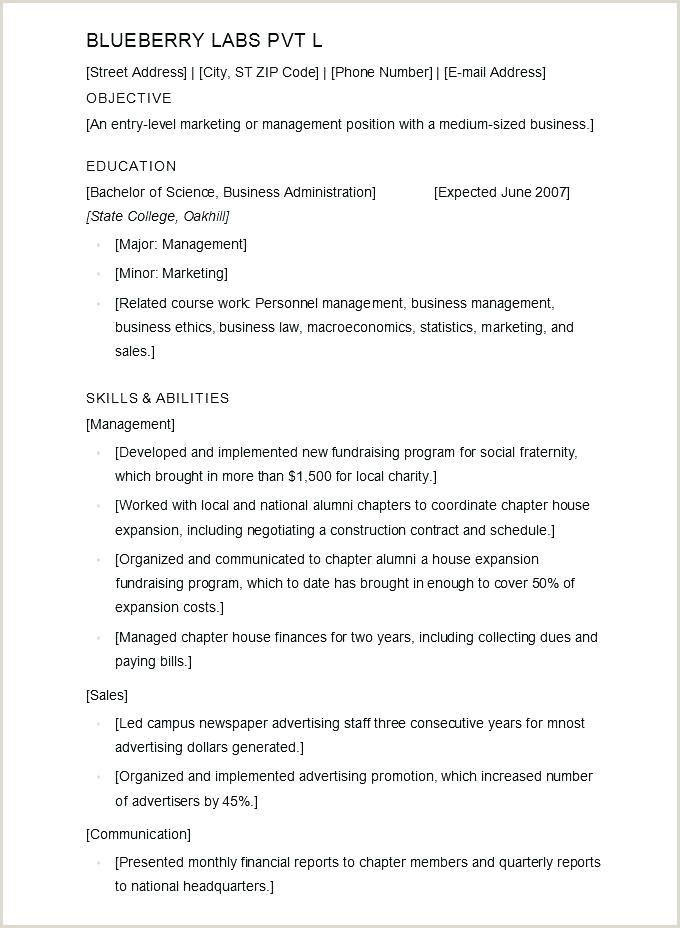 Cv format for Job In Bangladesh Pdf Standard Cv Template