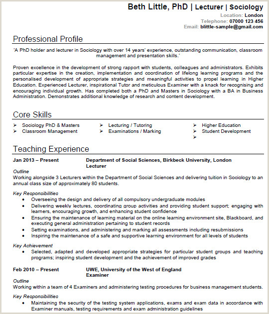 Cv format for Job In Educational Institutions 7 Best Cv Templates