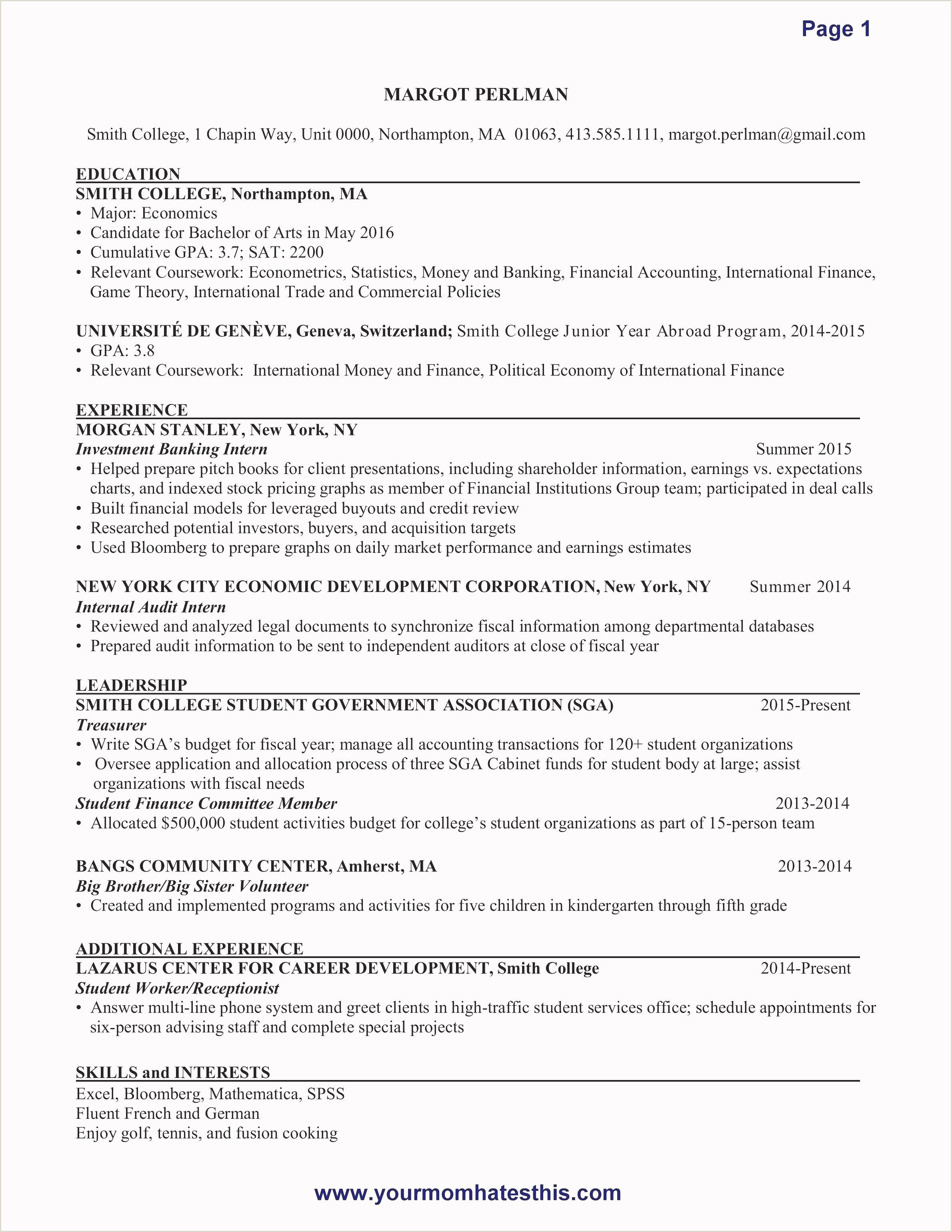 Cv format for Job In Educational Institutions New Free Resume Templates for Students