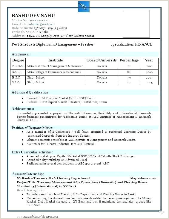 Cv Format For Job In Excel Beautiful Diploma Resume Sample