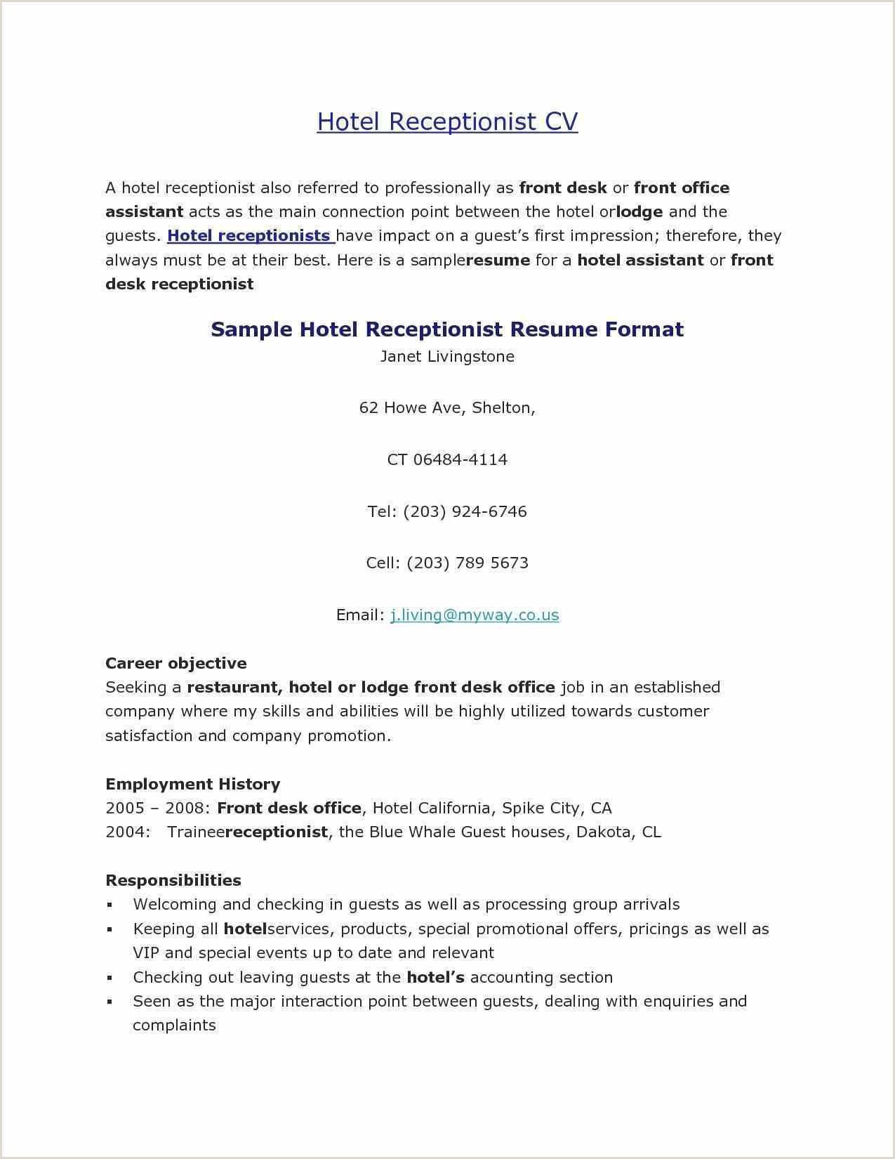Hotel Resume Sample Professional 20 Hospitality Resume