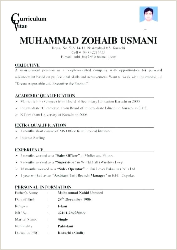 Cv format for Job In Karachi Job Application Template Sample Letter Support for Grant