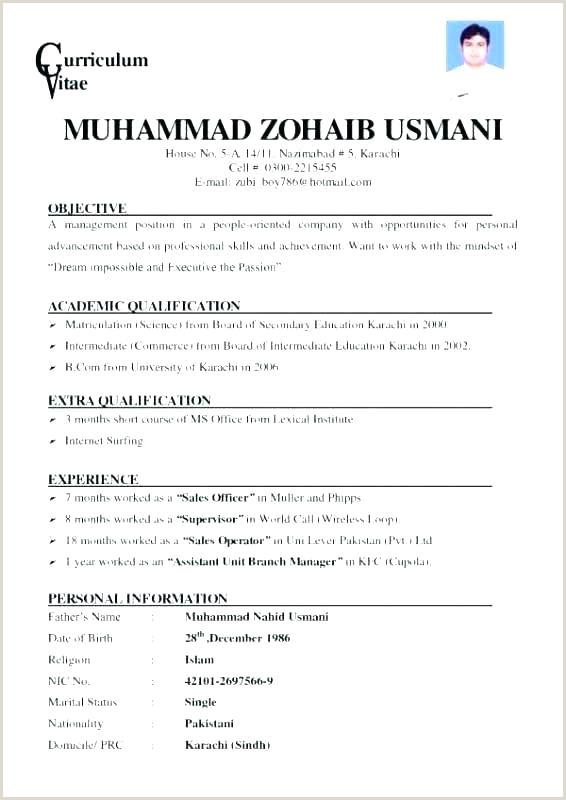 Cv Format For Job In Karachi Job Application Template Sample Letter Support For Grant