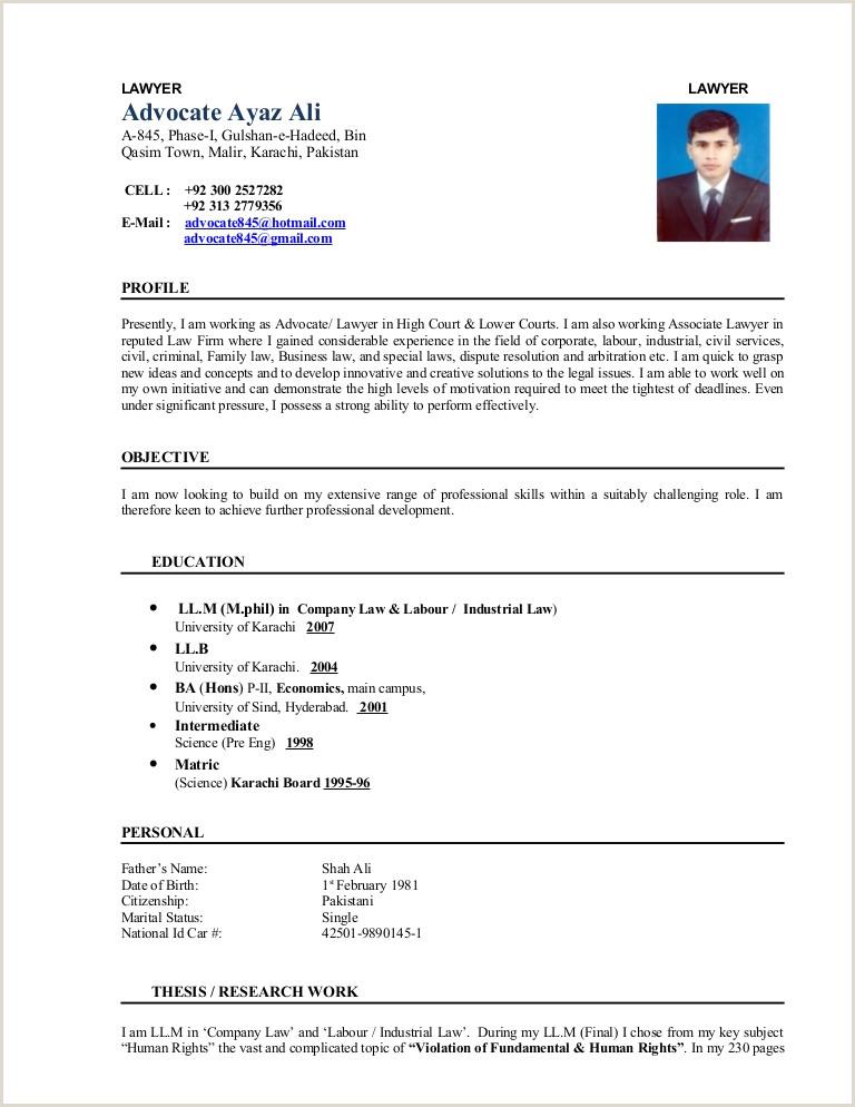 Cv Format For Job In Karachi Professional Cv Format In Pakistan Latest Pakistani Resume