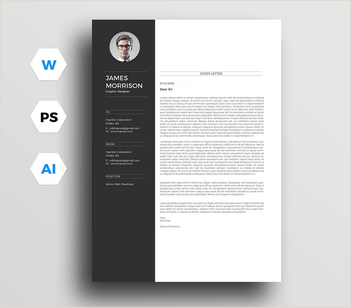Cv format for Job In Ms Word Bangladesh Free Cover Letter Templates for Microsoft Word at Template
