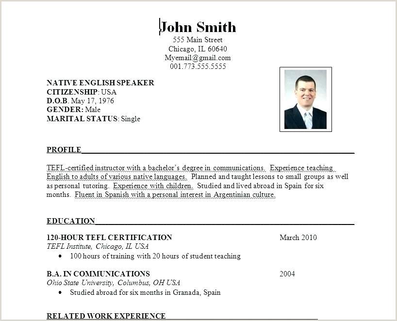 Formal Resume Template Sample Job Format Best Cv Pdf
