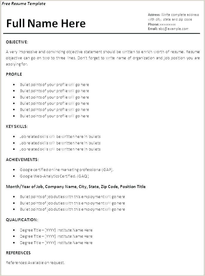 Resume Format Cv Europass Curriculum Vitae Example
