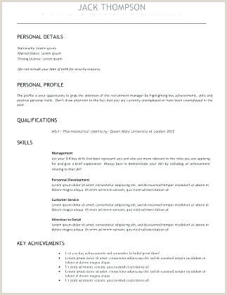 Cv format for Job In Nepal Pdf Standard Cv Template – Highendflavors