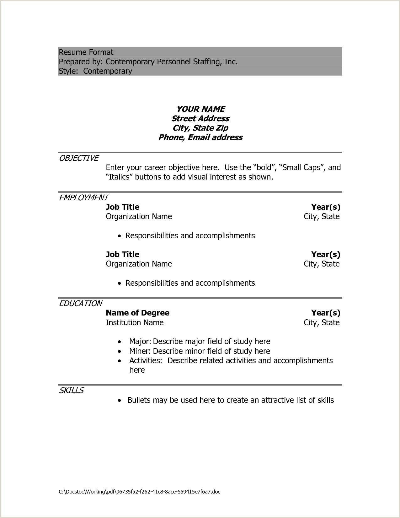 Yahoos Ceo Career Into A 1 Page Cv Helpful Example Resumes