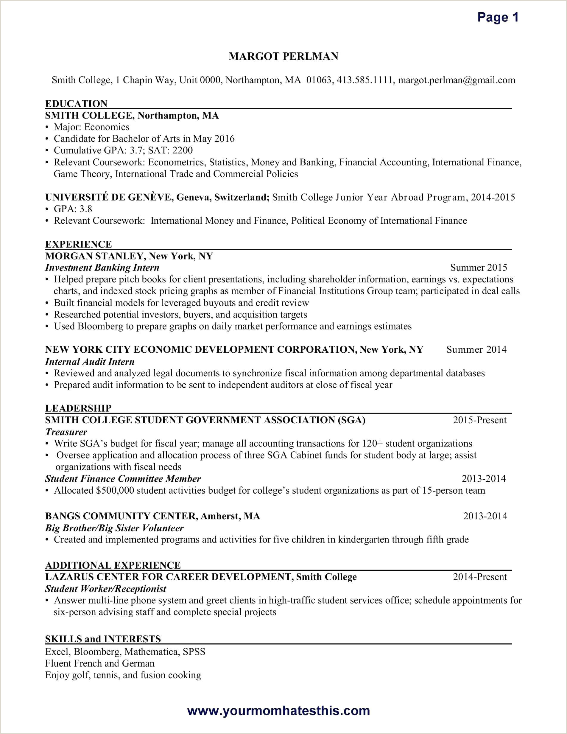 Cv Format For Job In Nigeria Simple Modele De Cv Finance Iulitte